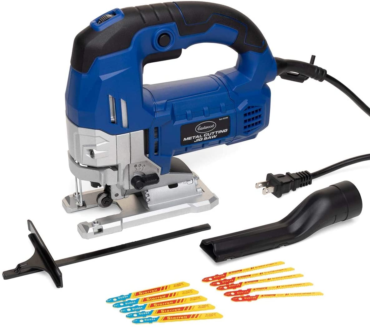 Eastwood Metal Cutting Jig Saw with 4 Position Orbital Blade Motion Control