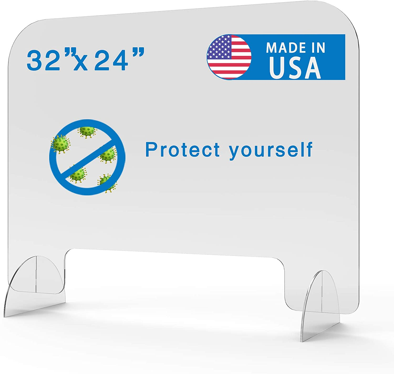 Plexiglass Barrier for Counter - 32