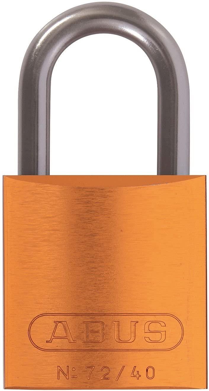 Abus 72/40 KA Orange, 72 Series Aluminum Padlock Keyed Alike Orange (Pack of 15 pcs)