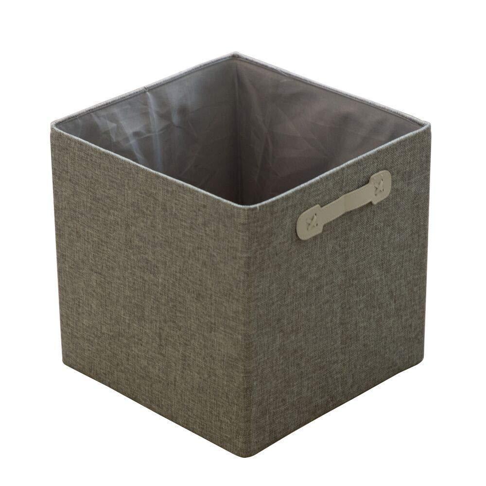Foldable Storage Bins Fabric Cube Baskets for Organizer (Grey, 2PCS)