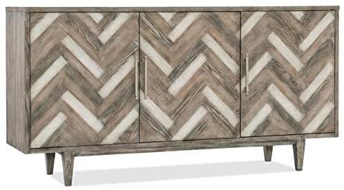 Hooker Furniture Melange Natural Beauty Media Credenza in Medium Wood