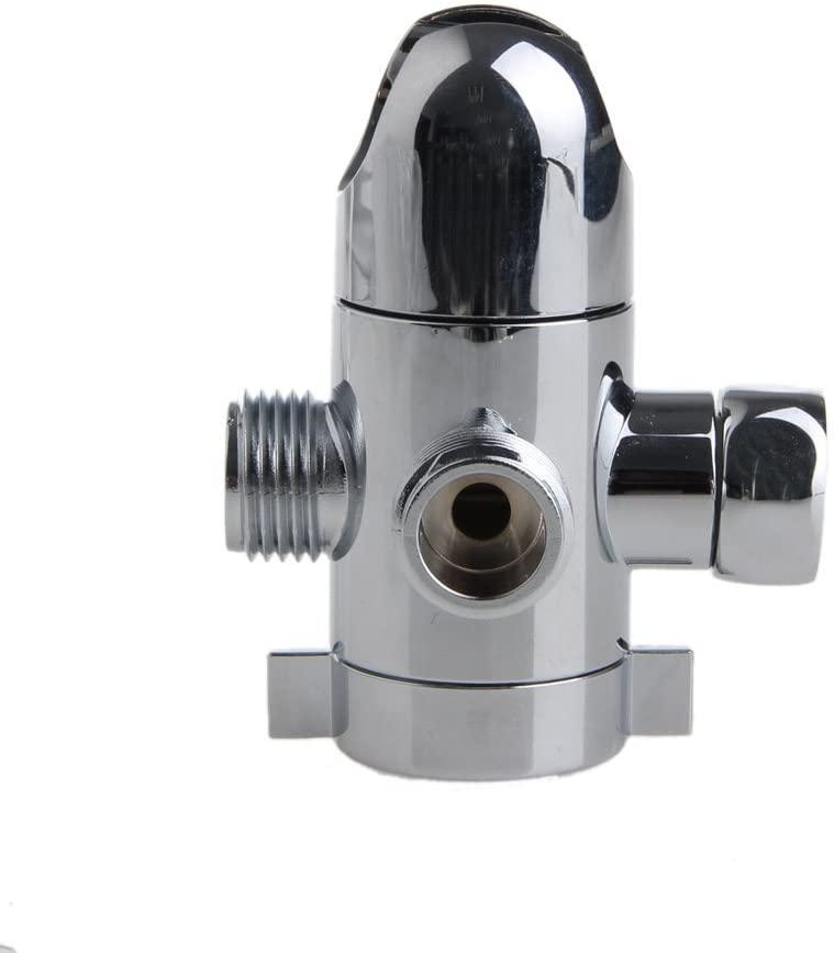 ceng-AIO 3-Way Shower Head Diverter Mount Combo Shower Arm Mounted Valve Fix Bracket New