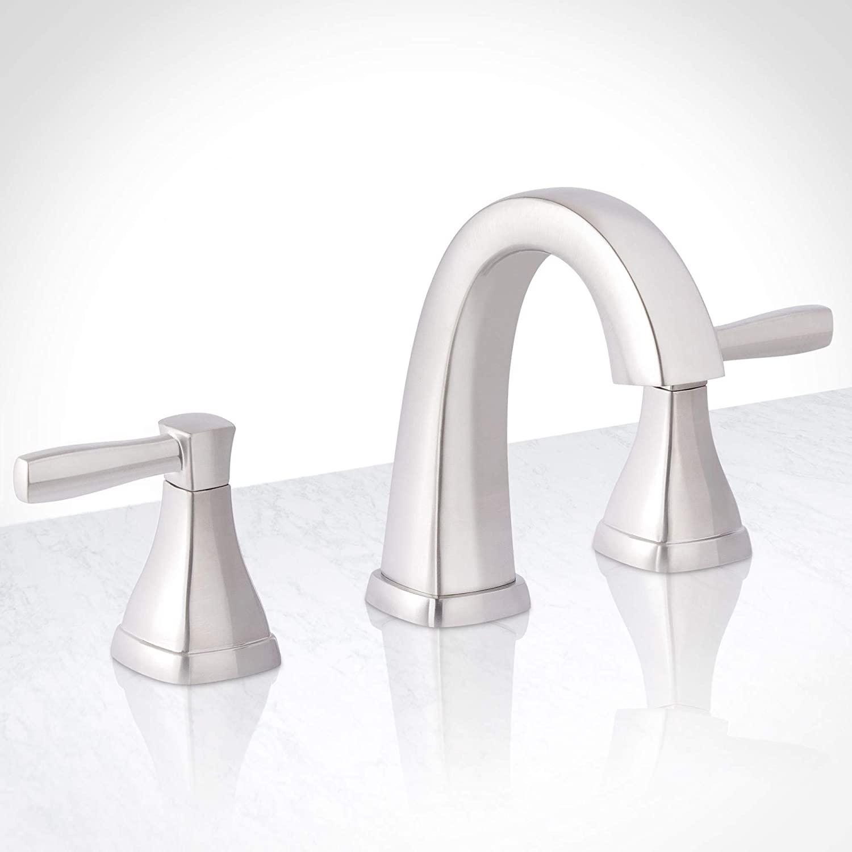 Miseno MNO641BNP Miseno ML641 Elysa-V Widespread Bathroom Faucet - Includes Brass Push-Pop Drain Assembly
