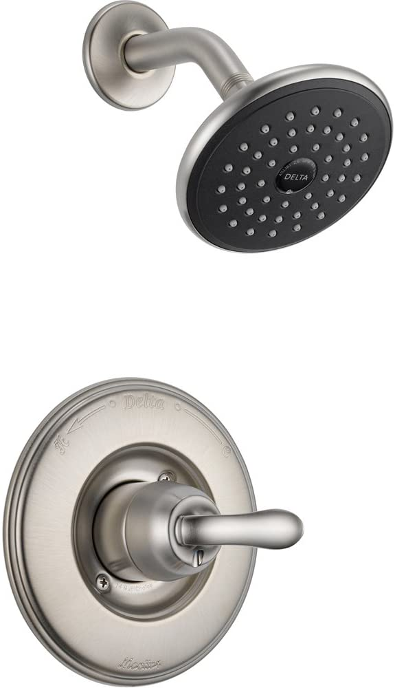 Delta Linden Stainless Steel Finish 1-Handle Shower Only Faucet with Valve D603V
