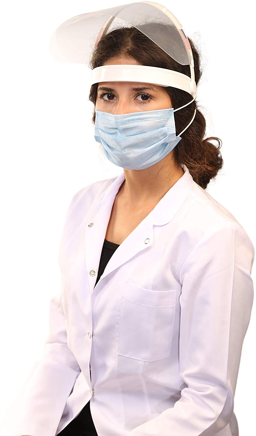 Face Shield-Plastic Face Shield-Reusable Face Shields-Full Face Protection with Anti-Fog-Full Face Shield With Sponge