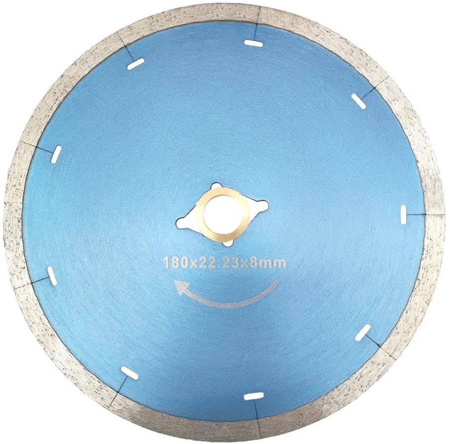 Meacase 7 inch Micro-Segmented Diamond Tile Saw Blade for Porcelain Ceramic Tiles Granite Marble with DM-7/8