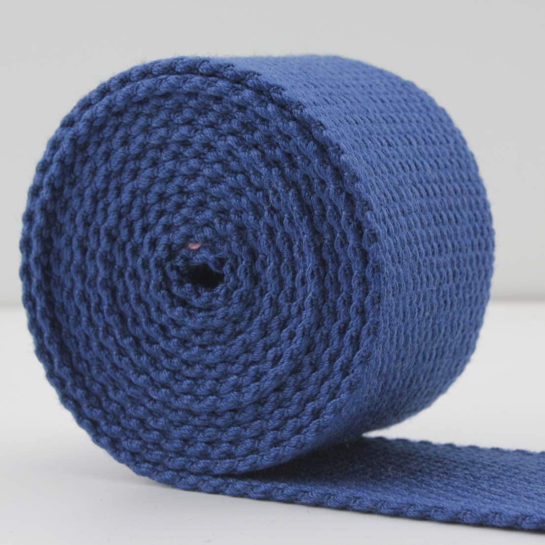 1.5 inch (38mm) Dark Blue Weight Polyester Cotton Webbing Strap 5 Yards ZB25