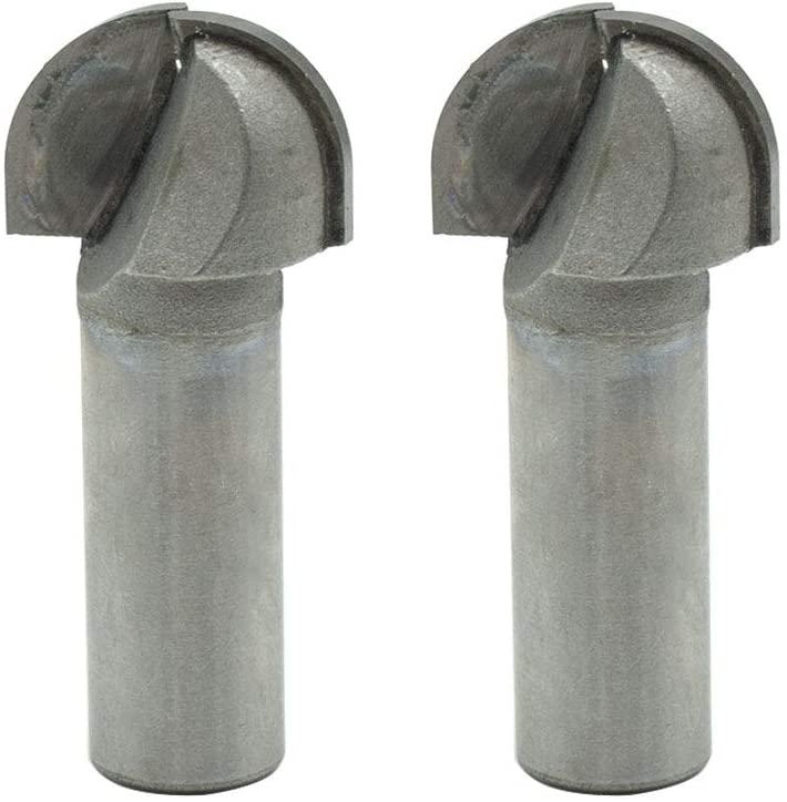 Rannb Cove Box Router Bit Double Flute Carbide Tipped Round Nose Router Bit 1/2
