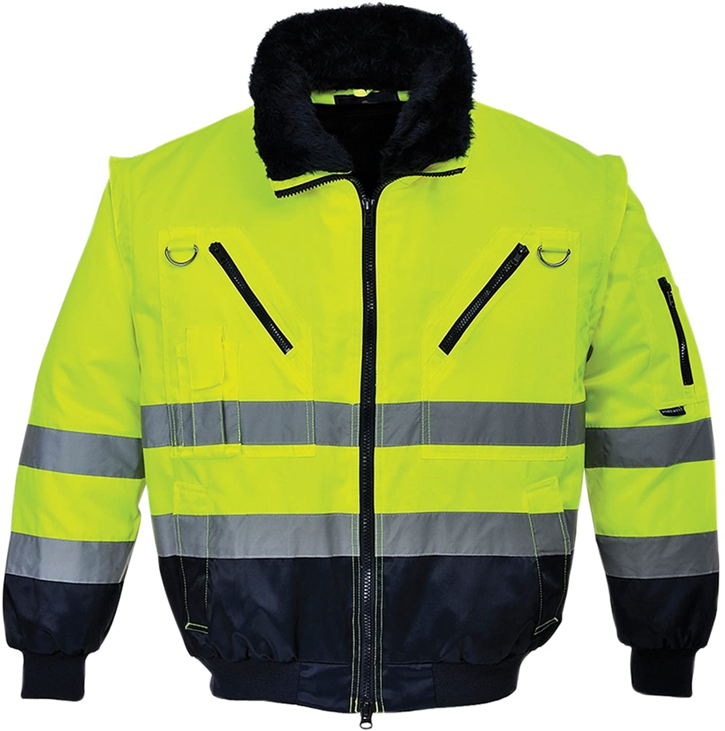 Portwest Workwear Mens Hi-Vis Pilot Jacket