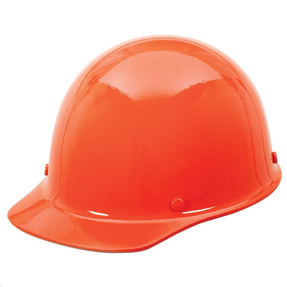 MSA 454626 Skullgard Cap Hard Hat, with 4-point Staz-on Suspension, Standard, Orange
