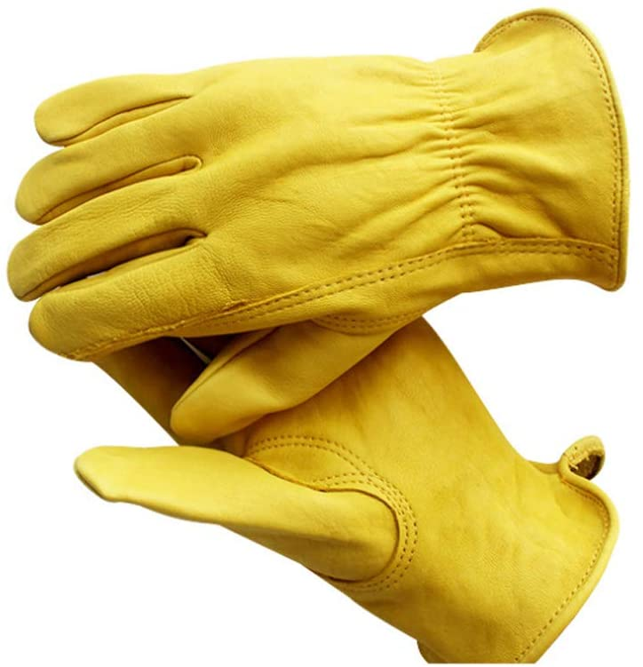 Outdoor Sheepskin Gloves, Sports Protective Gloves (Gardening, Construction, Farm, Handling,Rock Climbing, Crawling, Riding, Driving), Non-slip, Wear-resistant, Comfortable and Soft.
