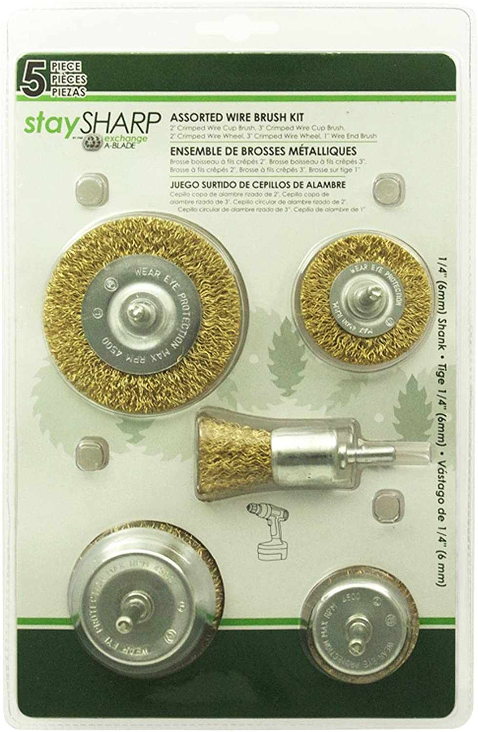 EAB Tool 2160422 Set of Wire Wheels, 5-Piece