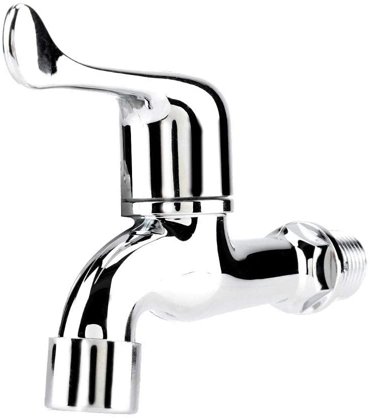 ABS Water Tap, Washing Machine Faucet with Single Spout Handle(4 style)(Fishtail)