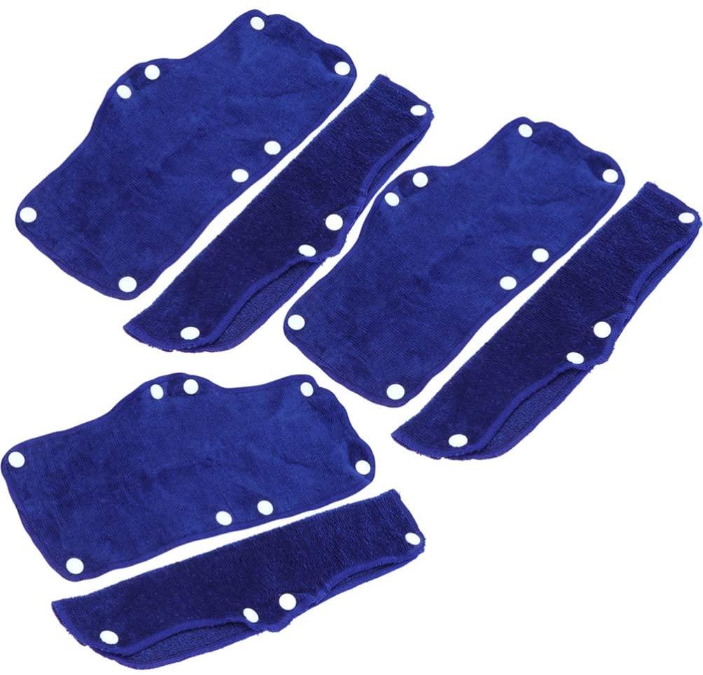 Balacoo 6PCS Cotton Hard Hat Sweatband - Reusable Hard Hat Sweat Strap - Washable Snap on Sweat Band Liner Hard Hat Accessories (Blue)