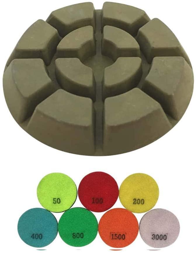 Transitional Concrete Grinding Pads - Set of 3 - #800 Grit Resin Bond - 3