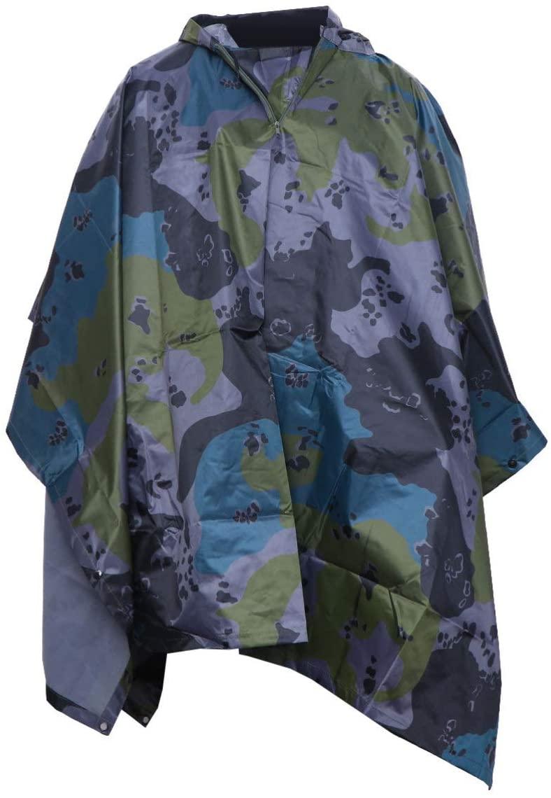 IMIKEYA Waterproof Hooded Rain Coat Rain Jacket Rain Cloak Reusable Rain Poncho Rainwear Rain Gear Anti Saliva Anti-Spit Anti Splash Safety Coveralls for Outdoor Travel Style 2
