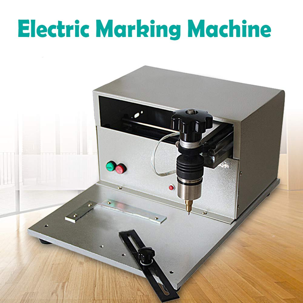200W Electric Marking Machine Nameplate Metal Plate Marking Machine Serial Number VIN Code Marking Work with XP WIN7