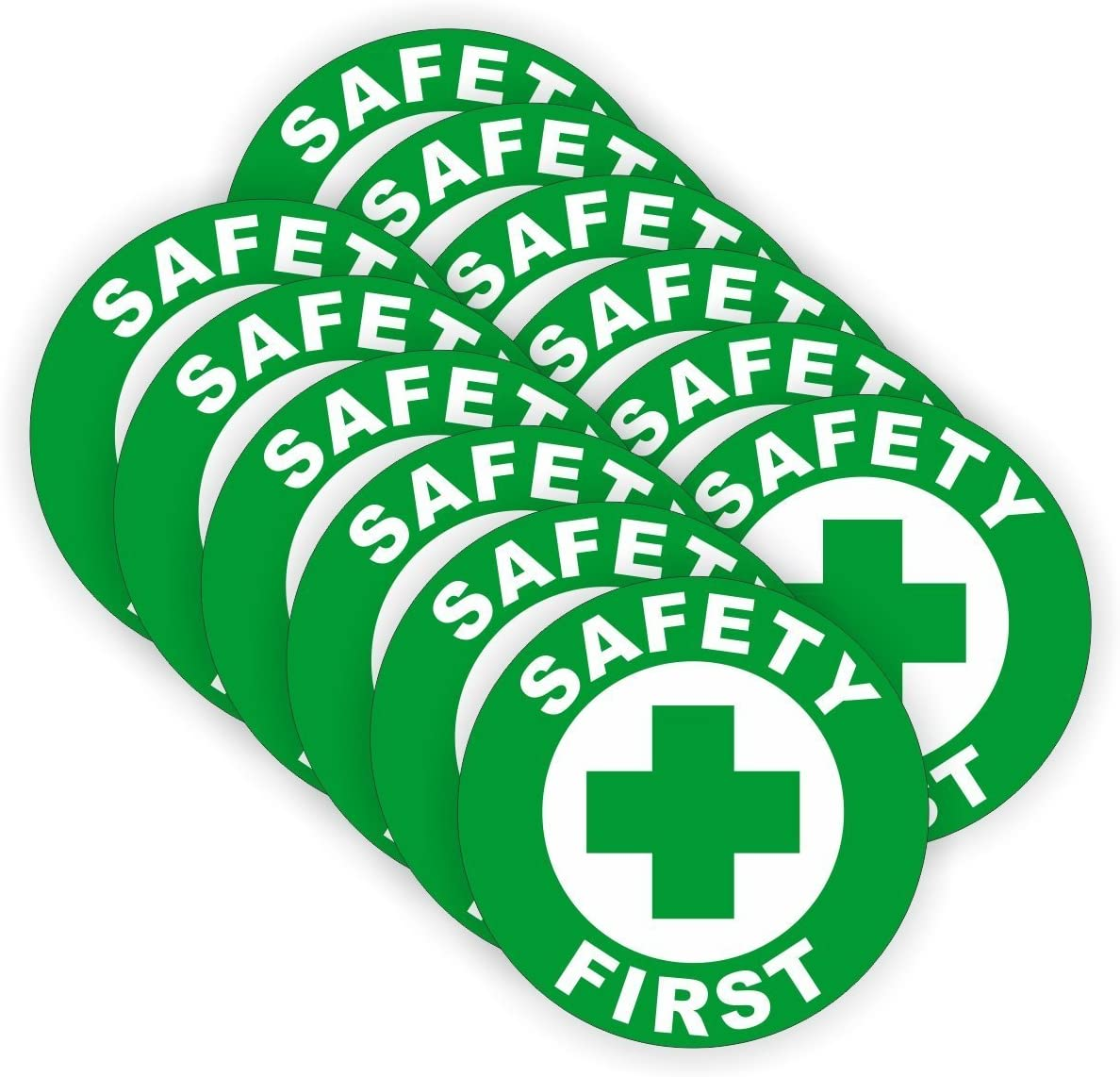 (12 PACK) Safety First circle by StickerDad - size: 2