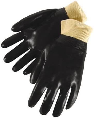 PVC Coated, Knit Wrist Gloves (Size L)
