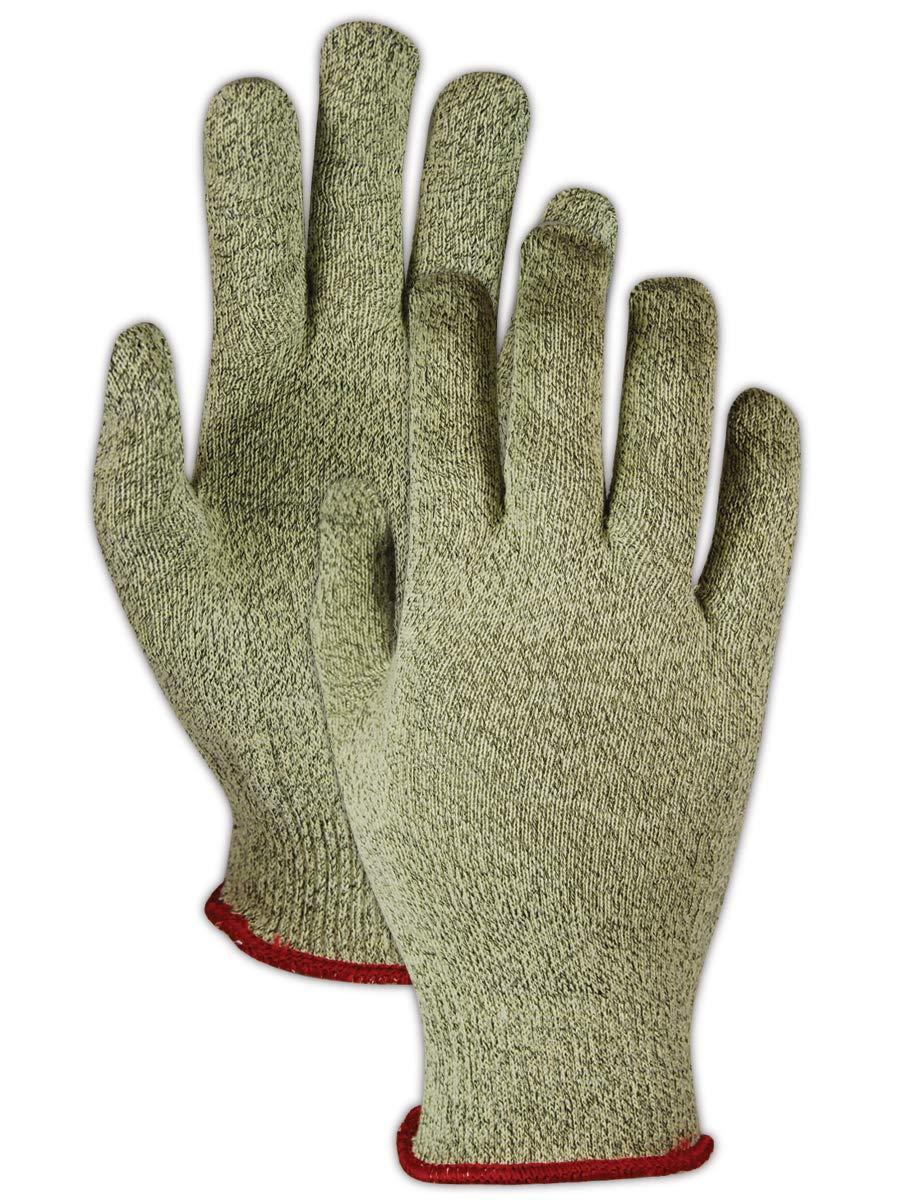 Magid Glove & Safety AX110-7 Cut Master Aramax XT AX110 Lightweight High Density Gloves, Cut Level 4, Size 7, Green (Pack of 12)