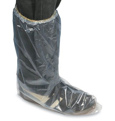 Fluid Impervious Poly Boot Covers with Elastic Opening - 2X-Large (5 Mil) (50 Covers) - AB-66-6-17