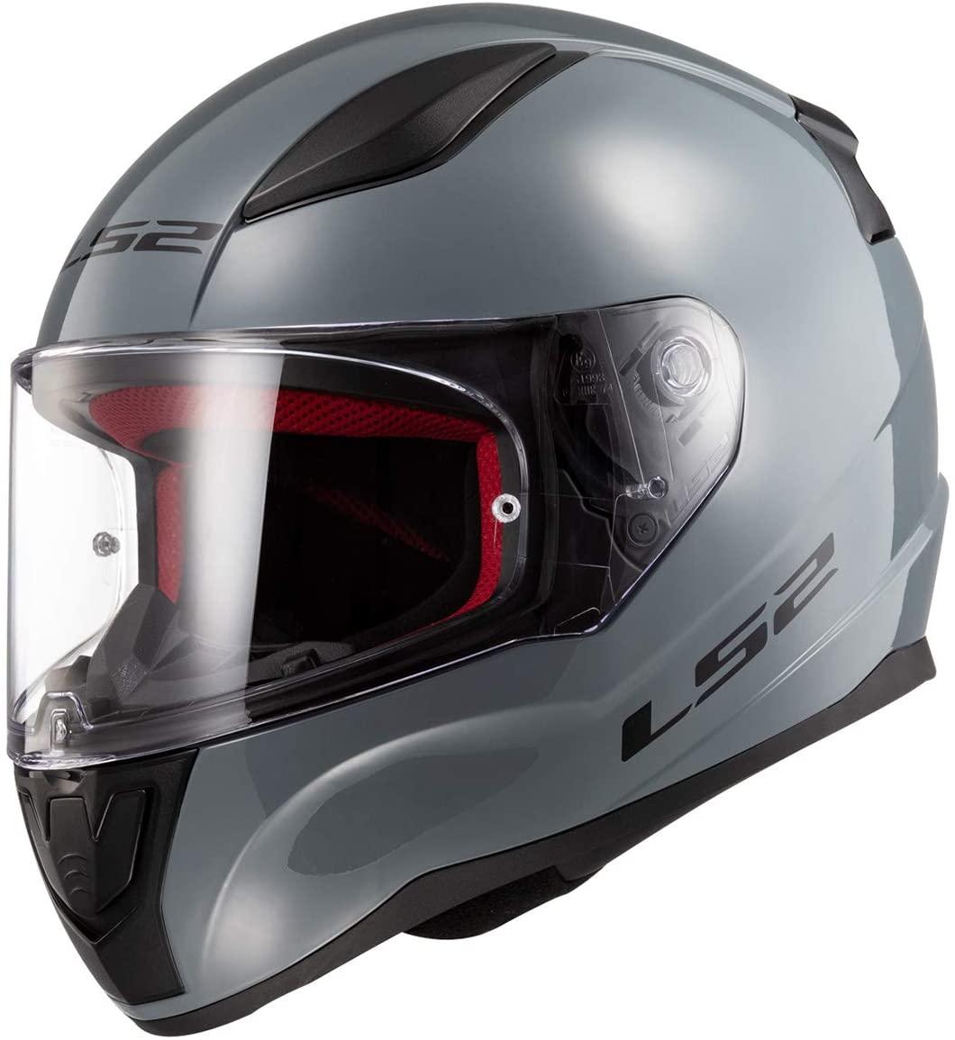 LS2 Helmets Full Face Rapid Street Helmet (Gloss Battleship Gray - Medium)