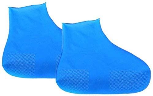 INSO Rain Shoe Covers, Waterproof Silicone Overshoes Reusable Slip Resistant Rain Shoe Cases for Kids, Women, Men (Random Color)