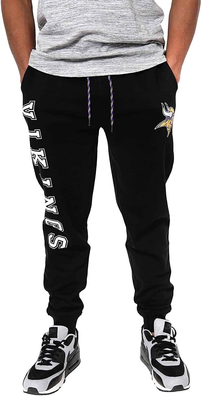 NFL Ultra Game Minnesota Vikings Active Basic Jogger Fleece Pants, Medium, Alternate Heather Grey