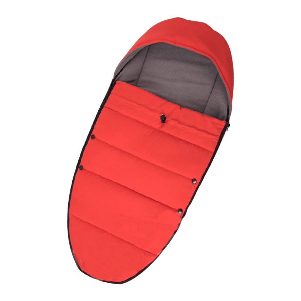 Xingsiyue Baby Stroller Sleeping Bag Waterproof Footmuff Warm Swaddle Blanket Fleece Padded Bunting Cover Winter Spring Pushchair Mat