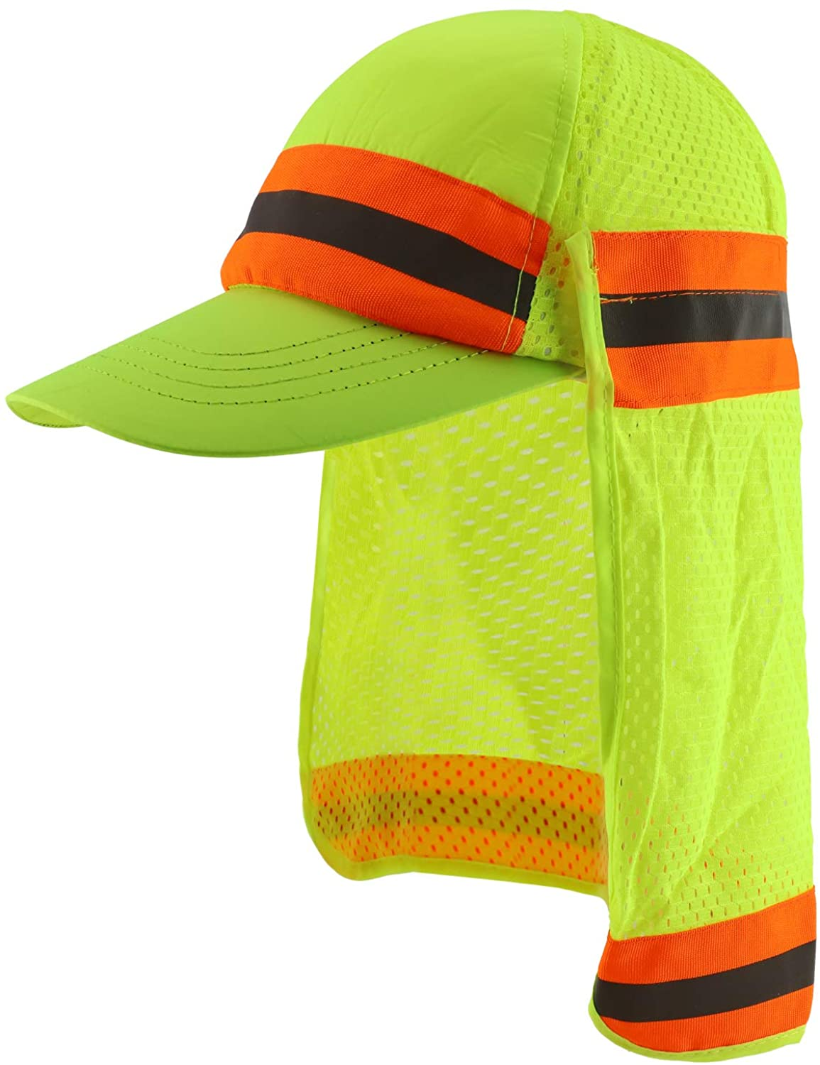 Trendy Apparel Shop High Visibility Reflective Ball Cap with Removable Mesh Flap