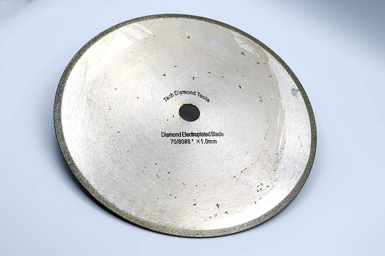 TechDiamondTools 8 inch Electroplated Diamond Saw Blade Cutting Disc arbor size 5/8