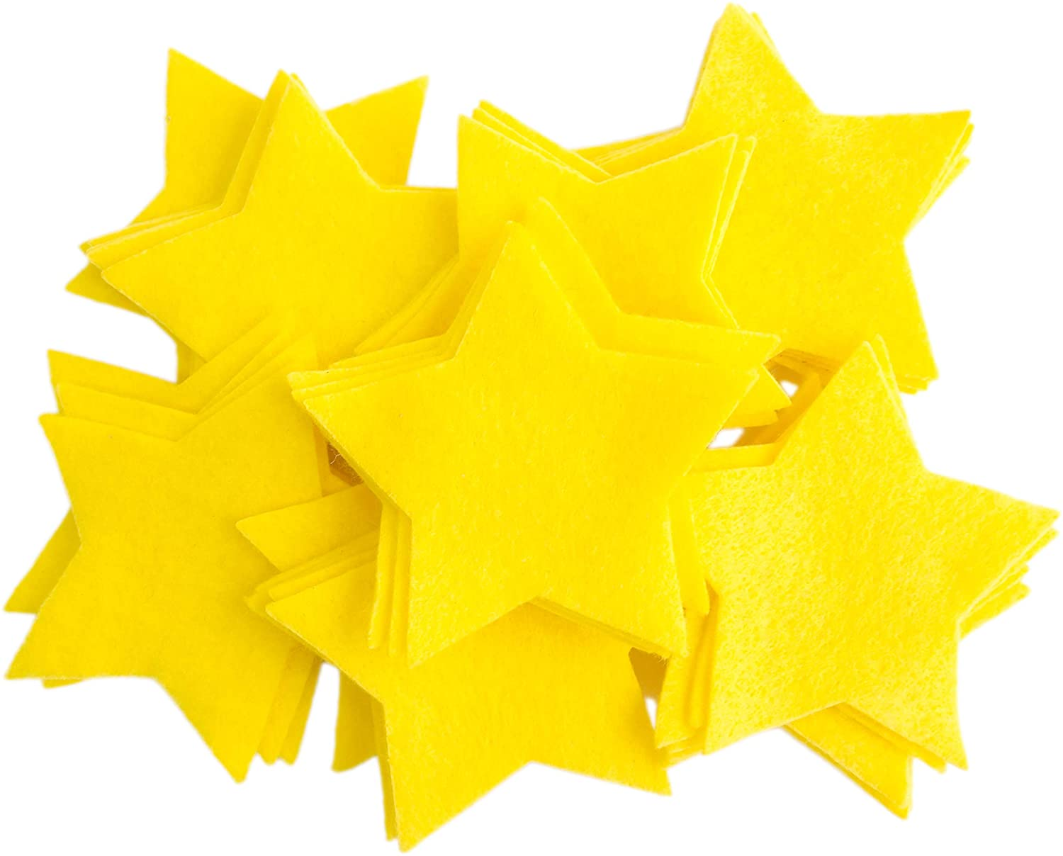 Playfully Ever After 3 Inch 45pc Felt Stars (Yellow)