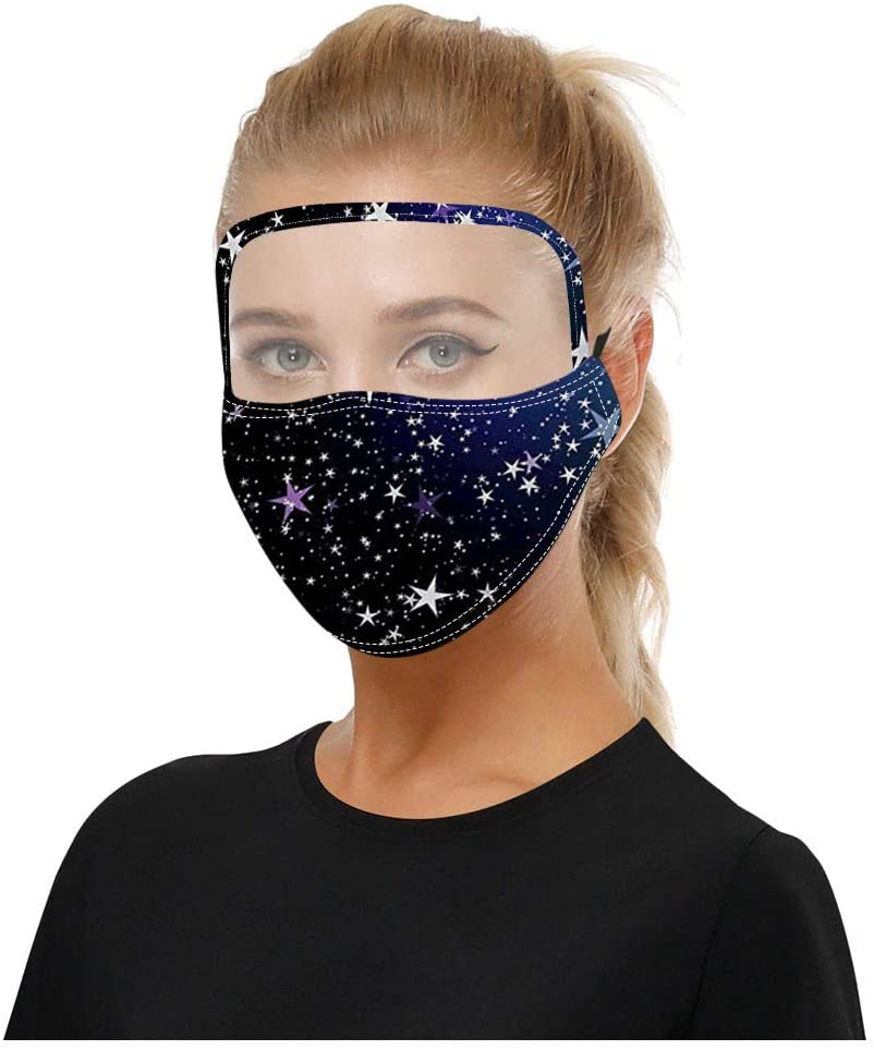 Adults Floral Printing Face_mask Protective with Eye Sheild, Anti-Dust Face Shields, Washable, Reusable Cotton Fabric Face Mouth Protection for Women Men Outdoor Party