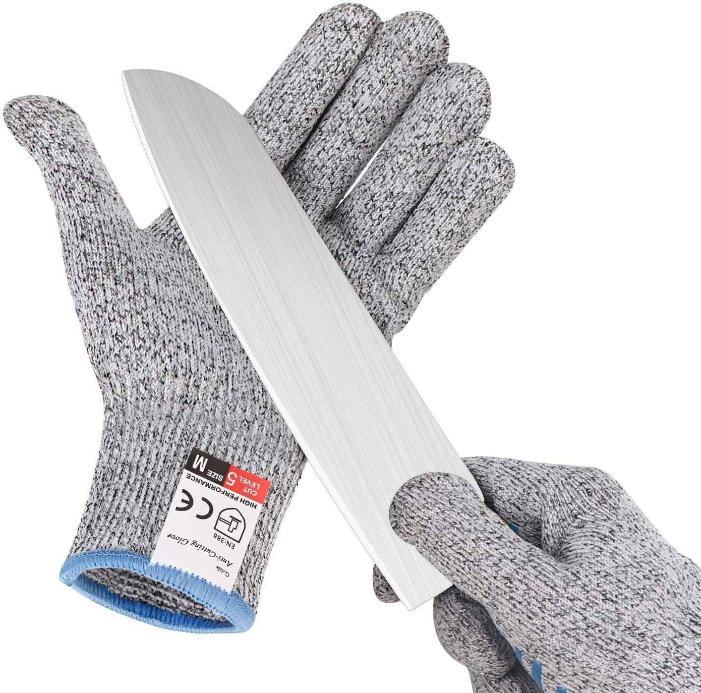 Gülife Cut Resistant Gloves Food Grade Level 5 Protection, Touch Screen Sensitive, Safety Cutting Gloves for Kitchen and Outdoor, Size Large (1 Pair included)
