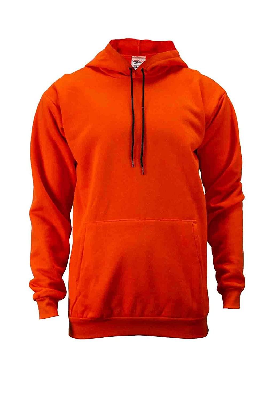 Union Line FR 10250-65-3XL 11 oz. Fleece Hooded FR Sweatshirt, 3X-Large, Orange, Made in The USA