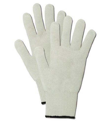 Magid CutMaster SP1028 Medium Weight Spectra HPPE/Steel Blend Glove, ANSI Cut Level 4, Reversible, Ambidextrous, Size 7, White (1 Glove)