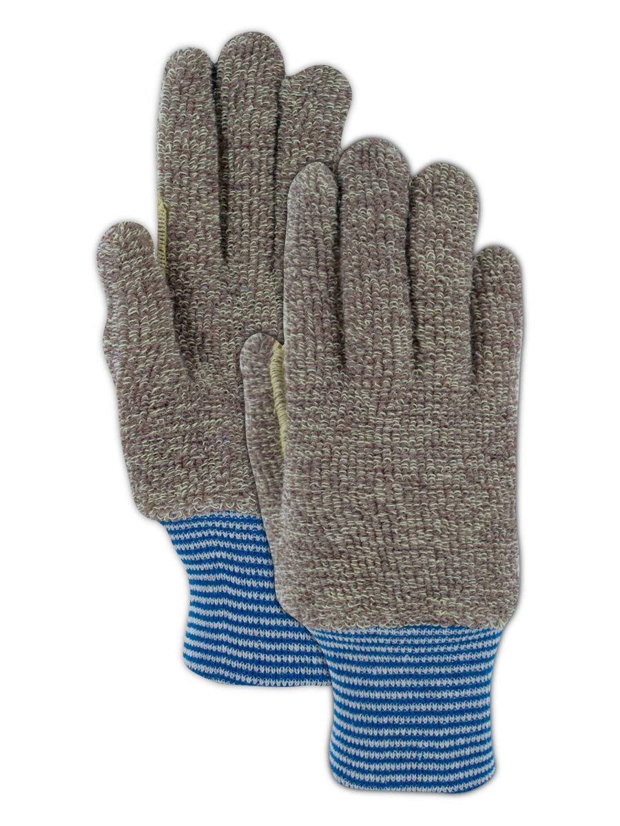 Magid CutMaster para-Aramid Blend Terrycloth Knit Gloves with Reinforced Thumb Saddle - Cut Level 4 (12 Pair)