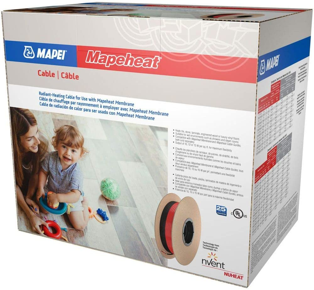 Mapei 94C120-070 Mapeheat Radiant Floor Heating Cable 120 Volt, 70 Square Feet - Made by NuHeat nVent