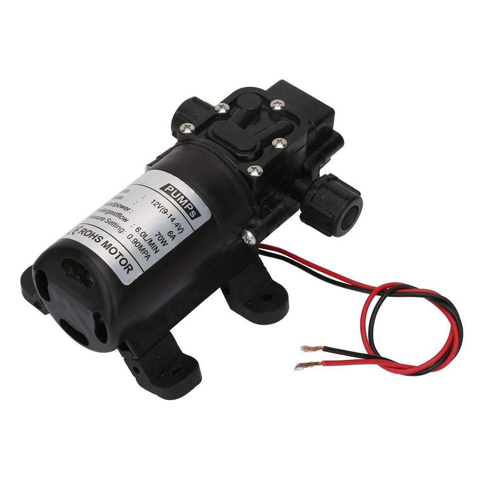 70W Diaphragm Pump, 6L/Min Low Noise High Pressure Pump, Durable for Pool
