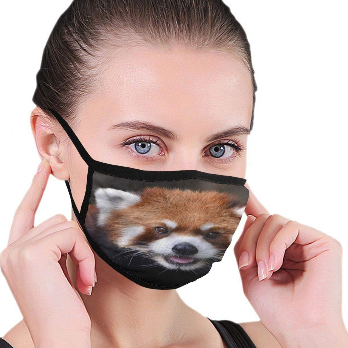 Doumku Mouth Cover Special Red Panda Dust Breathable Reusable Ear Loop Mouth Protection Cover For Men Women