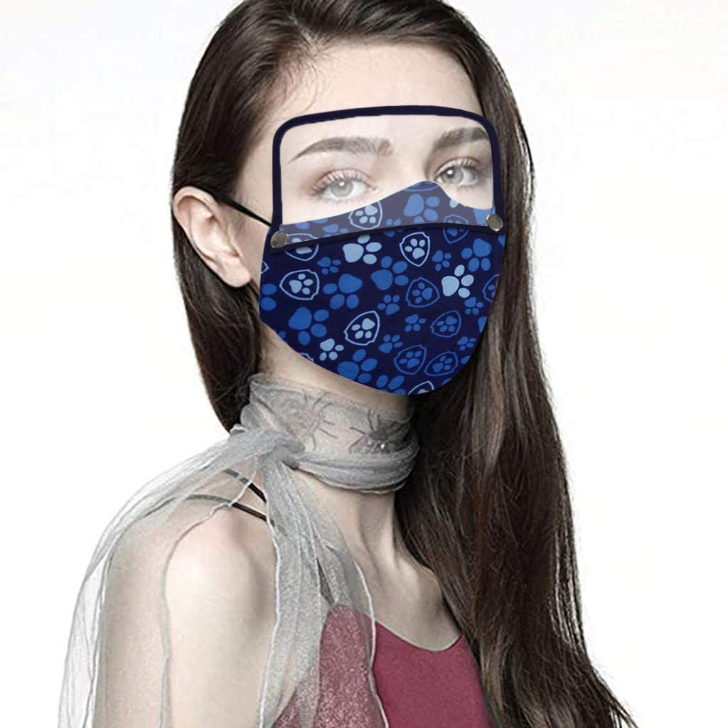 jayotai Cotton Dustproof Outdoor Face Protective Face Guard with Eyes Shield, Anti Pollution Dust Free Mouth Protectives