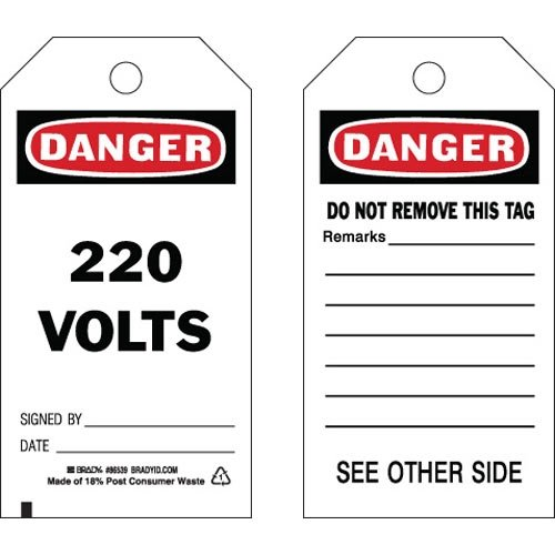 Brady 86539, Accident Prevention Tag, (12 Packs of 10 pcs)