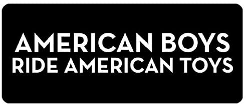 Large 5'' Sticker - American Boys Ride American Toys Hard Hat - Construction Toolbox, Hardhat, Lunchbox, Helmet, Mechanic & More
