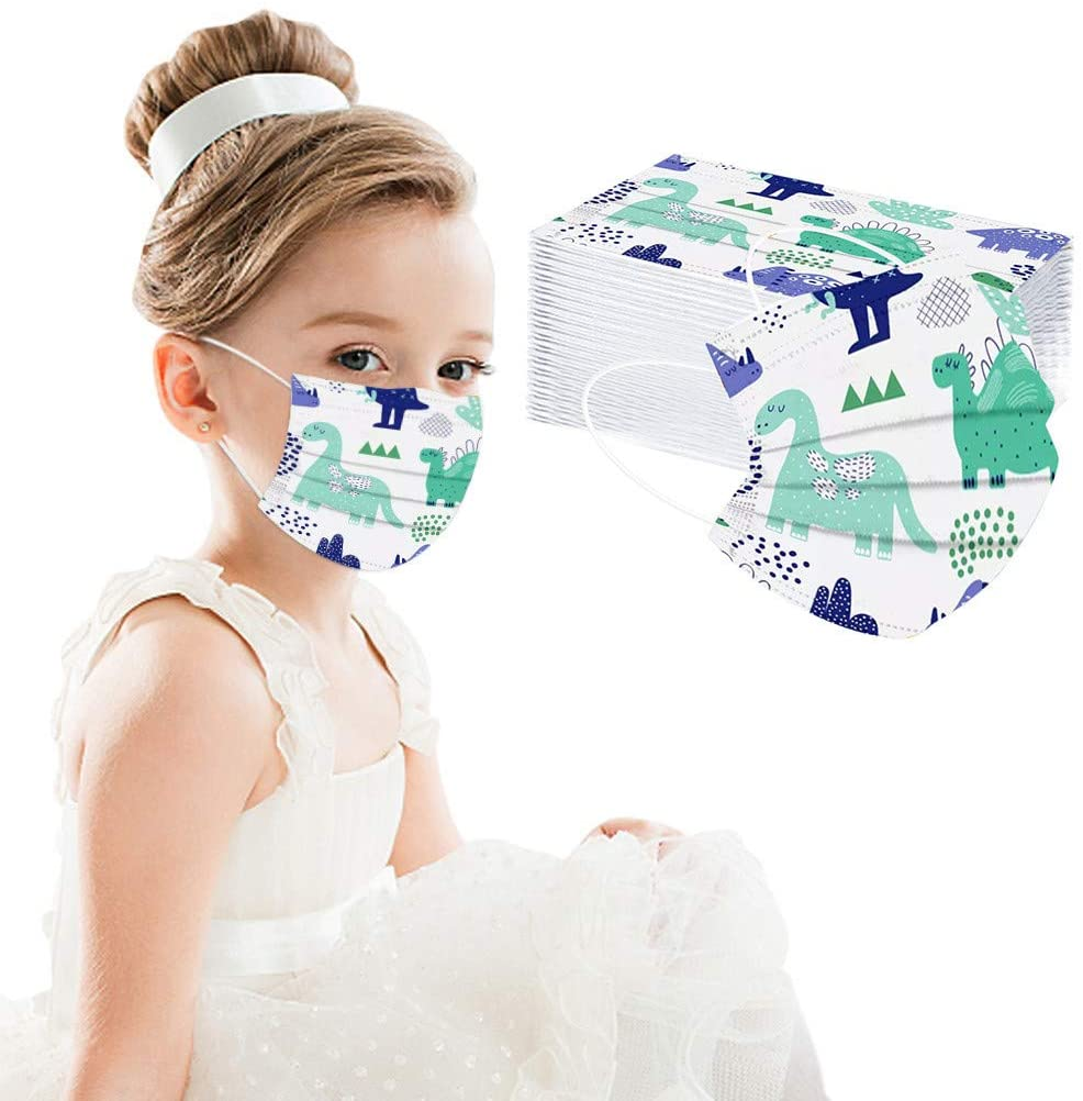 Kids Disposable Face Bandanas,Meltblown Non Woven,Industrial 3Ply Ear Loop Ear Loop Scarf 50PC