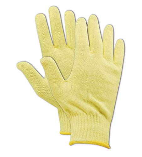 Magid Glove & Safety 13680-KV-KRB Magid Cut Master High Density 100% Kevlar 500 Machine Knit Gloves, 10, Yellow, Ladies (Fits Medium) (Pack of 12)