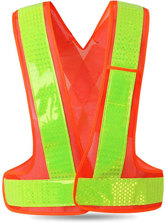 Reflective Safety Vest Construction Vest & Belt with Sliver Strip,High Visibility Vest for Working Outdoor