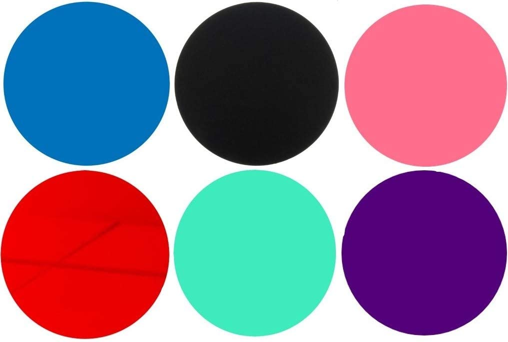 100 Laser Cut Color Acrylic Blank Round Discs Smooth Edge Plexiglass Circles 1/8 inch (3 mm) DIY Crafts Keychains Pendants Jewelry Gift Tags (Purple, 6
