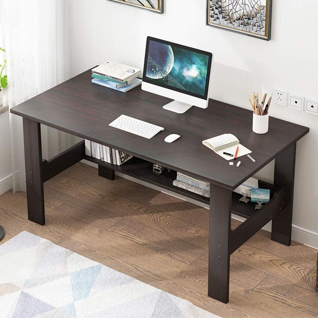 Home Office Computer Desk Computer Workstations Bedroom Laptop Study Table Office Desk Workstation Home Desktop Computer Desk Gaming PC Laptop Desk Work Table Students Study Writing Table (Black)