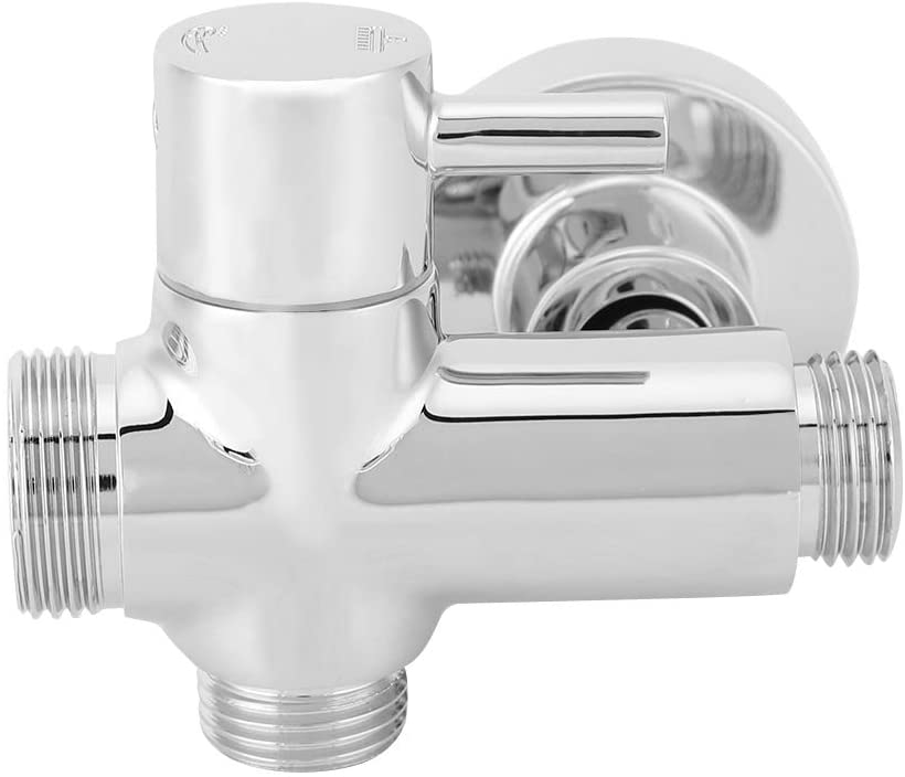 ViaGasaFamido Shower Head Diverter,Wall Mount Wall Base Mounting Accessories Shower Diverter Valve Copper Material G1/2