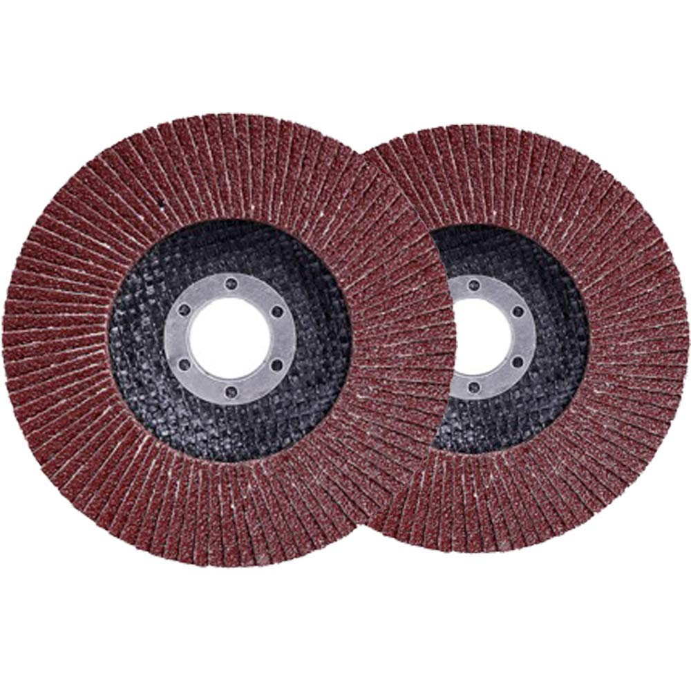 JOZOOES Aluminium Oxide Flap Disc 4-1/2×7/8 inch Grinding Wheel - 10 Pcs Type#29 & 40 Grit Grinder Disc